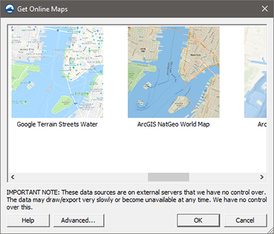 Additional Online Maps with SMS 13.1